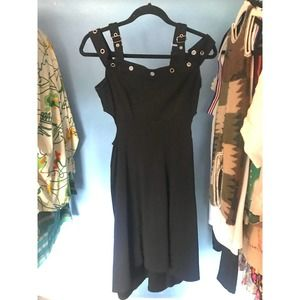 Tripp Black Revet Dress Small